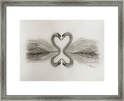 The Bond Of Love Framed Print by Mitchell McClosky