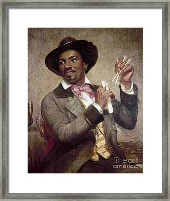 The Bone Player, 1856 Framed Print
