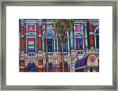 The Bonham Exchange Close Up Framed Print by Patti Schermerhorn
