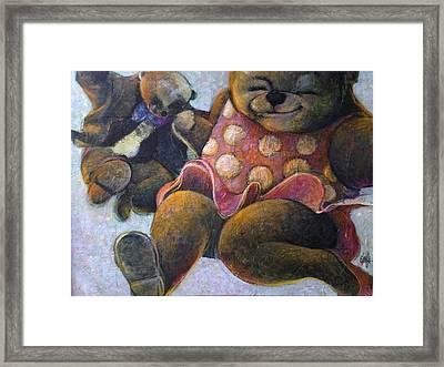 Framed Print featuring the painting The Boogie Woogy Bears by Eleatta Diver