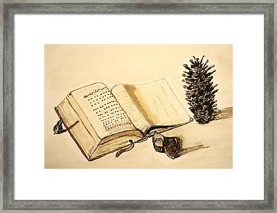 The Book Of Books. Framed Print