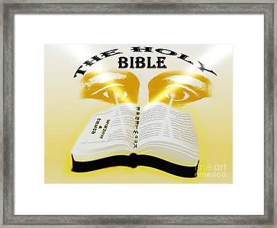 The Book Of Knowledge Framed Print by Belinda Threeths