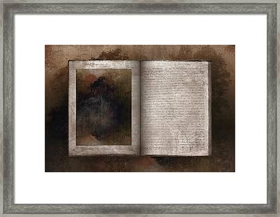The Book Of Life Framed Print by Ron Jones