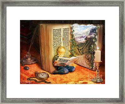 The Book Of Magic Framed Print by Eugene James