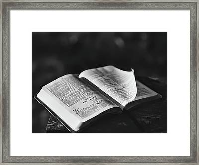 The Book Of Psalms Framed Print by Aaron Burden