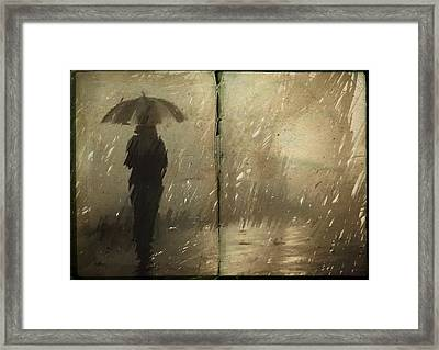 The Book Of Rain Framed Print by H James Hoff