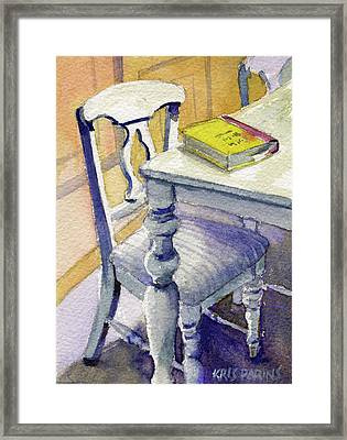 The Bookmark Framed Print by Kris Parins