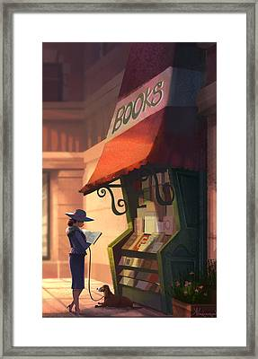 The Bookstore Framed Print by Kristina Vardazaryan