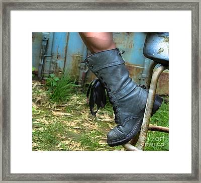 The Boot  Framed Print by Steven Digman
