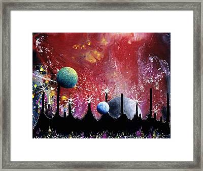 The Border Of Orion Framed Print by Lee Pantas