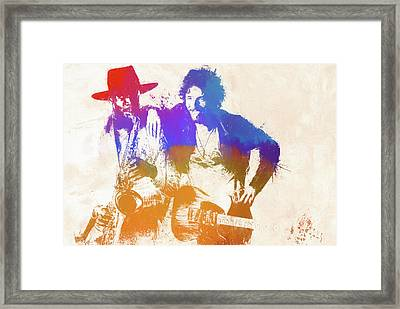 The Boss And The Big Man Framed Print by Dan Sproul