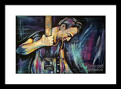 The Boss Rock Music Framed Prints