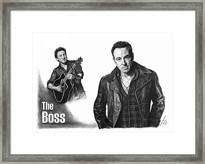 The Boss - Bruce Springsteen Framed Print by Iren Faerevaag