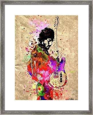 The Boss Grunge Framed Print