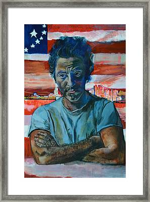 The Boss In New Jersey Framed Print