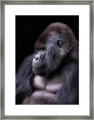 The Boss Framed Print by Julie L Hoddinott