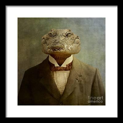 Crocodile Framed Prints