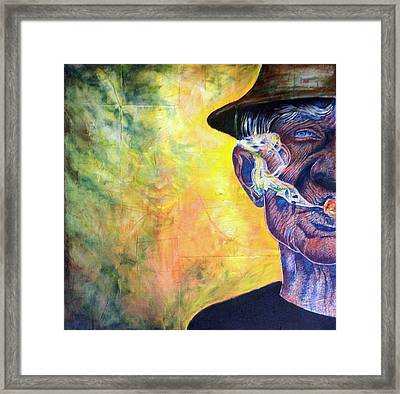 The Boss Framed Print by Ole Hedeager Mejlvang