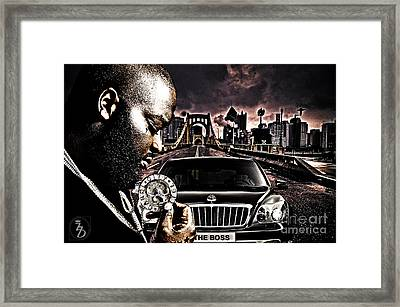 The Boss Framed Print by The DigArtisT