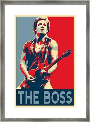 The Boss Framed Print by Twan Urselmann