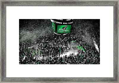 The Boston Celtics 2008 Nba Finals Framed Print by Brian Reaves