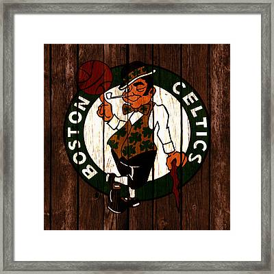 The Boston Celtics 2c Framed Print by Brian Reaves