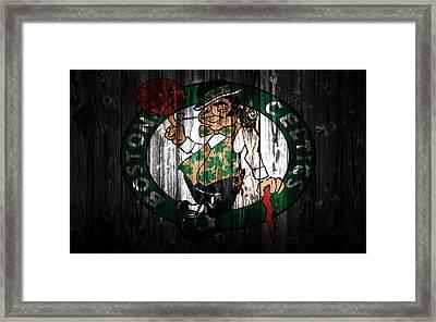 The Boston Celtics 5c Framed Print by Brian Reaves