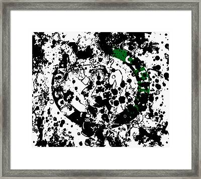 The Boston Celtics 6d Framed Print by Brian Reaves