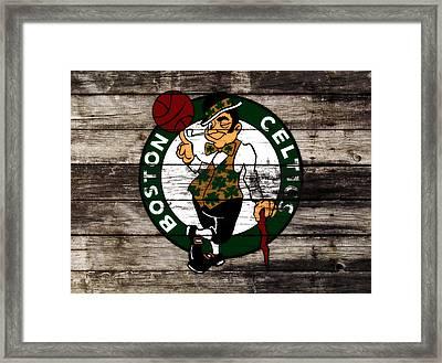 The Boston Celtics W10 Framed Print by Brian Reaves