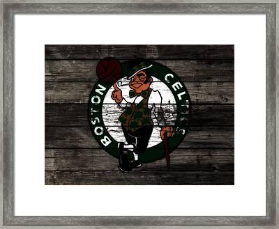 The Boston Celtics W9 Framed Print by Brian Reaves
