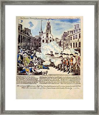 The Boston Massacre, March 5, 1770 Framed Print by Everett