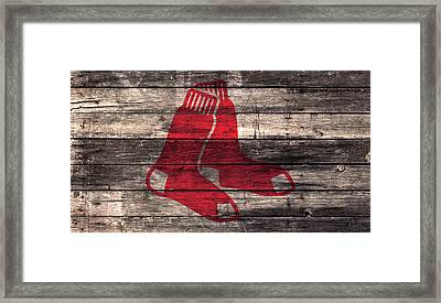 The Boston Red Sox W1 Framed Print by Brian Reaves