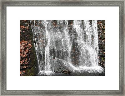 The Bottom Of Bushkill Falls Framed Print by John Telfer