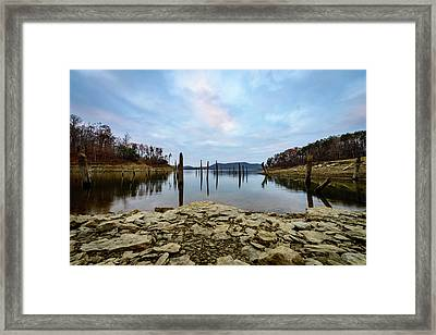 The Bottom Of The Lake Framed Print