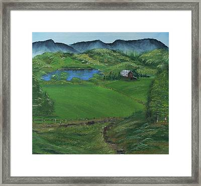 The Bottoms Framed Print by Robin Lee