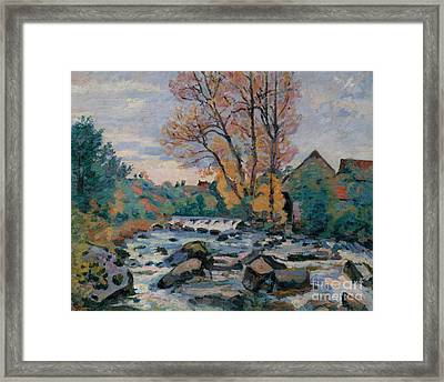 The Bouchardon Mill, Crozant Framed Print by Jean Baptiste Armand Guillaumin
