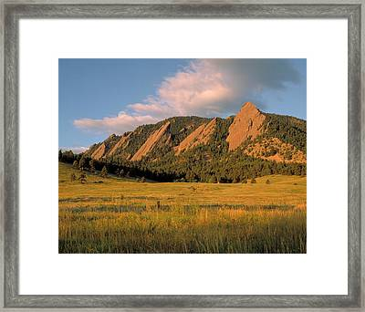 The Boulder Flatirons Framed Print by Jerry McElroy