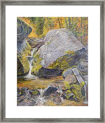 Framed Print featuring the painting The Boulder by Steve Spencer