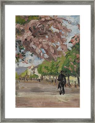 The Boulevard Framed Print by Arthur Haythorne Studd