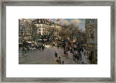 The Boulevard Des Italiens Framed Print by Jean Francois Raffaelli