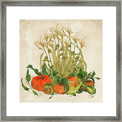 The Bountiful Harvest Framed Print