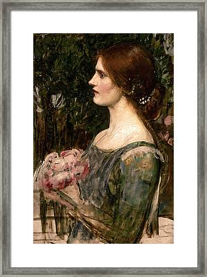 The Bouquet Framed Print by John William Waterhouse