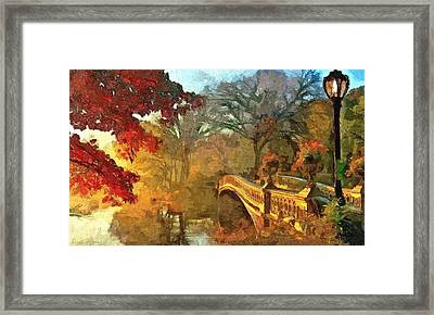 The Bow Bridge Nyc  Framed Print