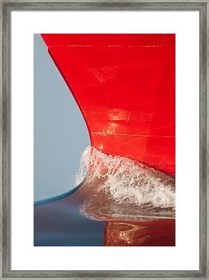 The Bow Of Skandi Rona Framed Print