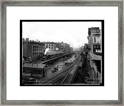 The Bowery Nyc Framed Print by Jon Neidert
