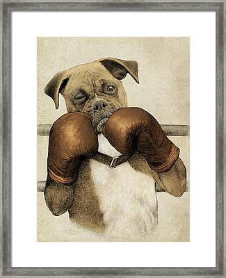 The Boxer Framed Print by Eric Fan