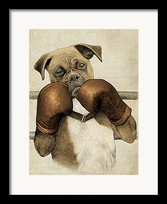 Boxing Drawings Framed Prints
