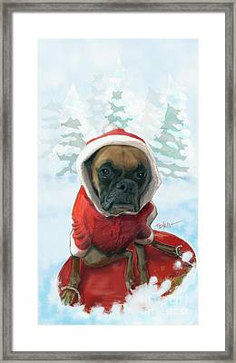 The Heavy Weight Boxer...  Framed Print