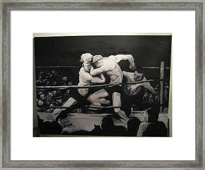 The Boxing Match Framed Print