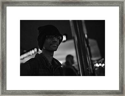 The Boy In The Dark Framed Print by The Man With a Hat